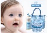 3 x premiu de la Klorane Bebe(geanta de schimb + borsetuta + Klorane Bebe Gel spumant pentru par si corp)
