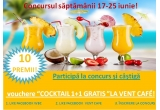 "10 x voucher ""COCKTAIL 1+1 GRATIS"" la Vent Cafe"