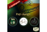 9 x six-pack de bere Staropramen, 3 x bicicleta, 1 x aparat foto profesionist Canon EOS 100D