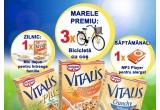 36 x set mic dejun Musli Vitalis, 6 x mini MP3 player pentru alergat, 3 x bicicleta cu cos