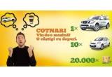 1 x masina Nissan Pathfinder, 10 x masina Nissan Micra, 20.000 x bax vin Cotnari (6 sticle), 200 x voucher online, instant: sticle de vin Cotnari