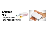 1 x imprimanta LG Pocket Photo + 50 puncte