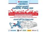"""1 x 300 euro sau 600 euro, 20 x pachet cu obiecte promotionale inscriptionate cu siglele sponsorilor, 10 x tricou oficial """"BCR Leasing Rally Team"""""""