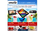 1 x tableta Android Smailo Web Energy 9.7, 1 x sistem de navigatie GPS Smailo HDx 5.0 Travel TraficOK Europa TMC, 1 x camera video auto Smailo Duo