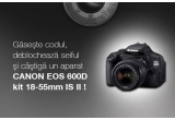 1 x aparat foto Canon EOS 600D kit 18-55mm IS II