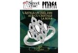 1 x inel din aur cu cristale La Rosa