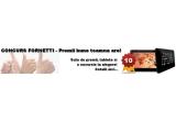 100 x premiu constand in 2 folii Akkufreh + 1 kg de produse fornetti, 10 x tableta Serioux S1005TAB, 1 x excursie oriunde vrei in valoare de 1000 euro + 1100 lei bani de buzunar