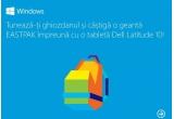 1 x tableta Dell Latitude 10 + geanta EASTPAK, 1 x pereche de casti Microsoft LifeChat LX-3000, 1 x mouse Microsoft 3500