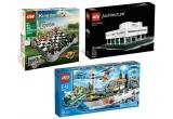 1 x set LEGO Architecture Vila Savoye, 1 x sahul LEGO Kingdoms, 1 x set LEGO CITY Patrula Garzii de coasta, cupoane de reducere de 10% valabile pentru o comanda pe site-ul CleverToys