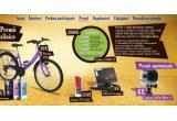 2000 x Pachet Cosmote, 8 x Ipod Nano, 124 x Ceas TOO LATE, 8 x DVD portabil E-Boda, 20 x Bicicleta DHS, 8 x camera GoPro Hero 3
