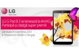 1 x televizor Cinema 3D LED, 1 x tableta LG G Pad 8.3, 1 x imprimanta de buzunar LG PD233