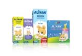 10 x set de produse Alinan: cutie Alinan happy drink + cutie Alinan solutie + Alinan calciu + Alinan vitamina D3