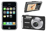 Camera foto digitala Olympus FE-340, GPS Myo C-720, Apple iPhone 16 GB<br type=&quot;_moz&quot; />