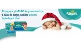 12 x premiu cu 6 pachete de scutece Pampers si servetele umede 3 +1 Baby Fresh