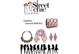 1 x set de accesorii Mischa: plic + esarfa + colier + pereche de cercei