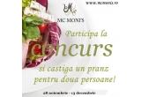 1 x pranz la restaurantul Mc Moni's (2xgustare/ciorba + 2xpreparat de baza + 2xsalata + 2xdesert)