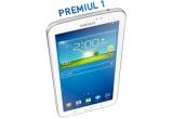 1 x tableta Samsung Galaxy Tab 3, 4 x card cadou Rombiz in valoare de 250 ron