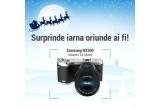 1 x camera foto Samsung NX300, 3 x kit de iarna (manusi + fular + termos)
