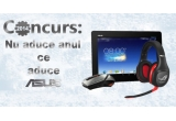 1 x tableta Asus ME302C-1A009A, 1 x set de caști R.O.G. Vulcan Pro Gaming, 1 x mouse Asus GX1000 Eagle Eye