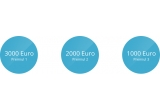 1 x 3.000 euro, 1 x 2.000 euro, 1 x 1.000 euro