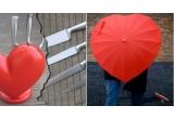 2 x Set Heart of Knives, 1 x Umbrela de Ploaie in forma de Inima