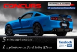 1 x plimbare cu Ford Shelby GT500, 5 x tricou unicat