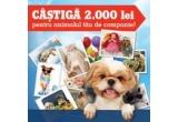 1 x 1.000 ron Card Cadou pentru animalul tau de companie, 2 x Card cadou eMAG in valoare de 500 ron