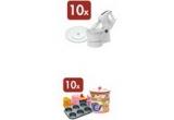 10 x set complet de briose, 10 x set constand in mixer si platou pentru prajituri