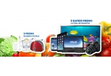 1 x tableta iPad Air 16GB, 1 x Laptop Asus X552CL-SX033D, 10 x Prajitor De Paine Bosch, 10 x Mixer Vertical Philips, 10 x Storcator de Citrice Bosch, 1 x Aparat Foto Nikon D3100, 1 x Smartphone Samsung Galaxy S3, 1 x Televizor Samsung 32F5000