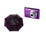 1 x aparat foto Samsung ST72, 5 x umbrela cu leduri