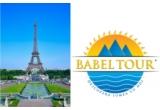 o excursie la Paris pentru un weekend (2 persoane; sunt asigurate: transport cu avionul, cazare la hotel de 3-4 stele si mic dejun), oferita de BABEL TOUR)<br />