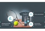 4 x racheta de tenis cu autograful lui Ilie Nastase, 20 x set Dove Men+Care Clean Comfort, 20 x tricou personalizat Dove Men+Care