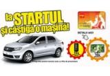 1 x masina Dacia Logan, 10 x televizor LED LG, 10 x telefon mobil All View