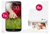 4 x imprimanta portabila LG Pocket Photo, 1 x smartphone LG G 2 Mini