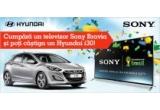 1 x masina Hyunday i30, 8 x card cadou eMAG (cardul are valoarea egala cu suma platita pentru achizitionarea televizorului Sony Bravia)