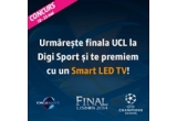 1 x Smart LED TV, 6 x minge UEFA Champions League