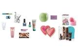 1 x Tropical Eyes Mascara & Fard de pleoape Velvet Eyeshadow - Sephora, 1 x Tratament anticelulitic Bioclinic - Oriflame, 1 x 2 lacuri de unghii ProNails, 1 x Masca Himalaya Herbals - Refreshing Fruit Mask, 1 x Loțiune parfumata pentru corp Estée Lauder Sensuous Nude, 1 x Masca de curațare cu multivitamine - Herbalife, 1 x Tuș pentru ochi Colorful Waterproof Eyeliner 24 H Wear & folie adeziva pentru unghii Nail textile Ma jupe d'écolière -Sephora, 1 x Gel parfumat pentru corp CHANCE EAU FRAICHE Douceur Scintillante Chanel, 1 x Apa de toaleta Ortensia L'Erbolario, 1 x Kit pentru bronzat Luxury Tanning Essentials Kit, 1 x Fard de obraz ediție limitata Sweethearts Perfect Flush Blush