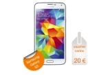 1 x Samsung Galaxy S5, 15 x voucher de 20 euro valabil in magazinul online Orange