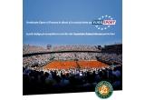 5 x pachet Roland Garros pentru fani (tricou oficial Roland Garros + pix + breloc Eurosport)