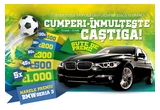 1 x masina BMW Seria 3, 5 x Card Cadou eMAG in valoare de 1.000 euro, 45 x Card Cadou eMAG in valoare de 500 euro, 45 x Card Cadou eMAG in valoare de 300 euro, 45 x Card Cadou eMAG in valoare de 200 euro, 145 x Card Cadou eMAG in valoare de 100 euro