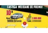 10 x masina Skoda Octavia Active, 1000000 x Sticla Bergenbier 0.5L, 560.000 x Bergenbier PET 2.5L, 440.000 x Doza Bergenbier 0.5L