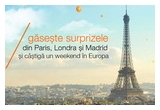1 x weekend in Europa + 150 euro
