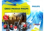 1 x Televizor LED Philips Full HD, 1 x Televizor LED Philips Imagine HD, 1 x Smart TV LED Philips Full HD, 2 x Ceas cu radio Philips, 1 x Radio casetofon cu CD Philips