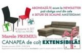 1 x canapea de colt extensibila, 6 x set de scaune Amsterdam