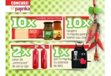 """10 x set cu bunatati Jamie Oliver (paste si sosuri), 2 x set TV Paprika de """"extinctoare"""" de ulei si otet, 1 x sort TV Paprika cu ustensile de BBQ, 10 x hanger TV Paprika pentru telefon sau chei"""