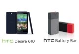 1 x smartphone HTC Desire 610, 2 x HTC Battery Bar
