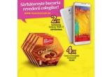 10 x smartphone Samsung Galaxy Note 3, 140 x cutie cu bunatati Chokotoff