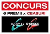 2 x ceas barbatesc Casio G-Shock, 4 x ceas dama Casio BABY-G