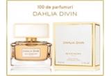 300 x apa de toaleta Dahlia Noir L'Eau 50ml, 100 x apa de parfum Dahlia Divin 50ml, 1 x rochie creata de un designer celebru