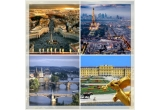 4 x city break la Roma/ Paris/ Praga/ Viena, 15 x 100 euro